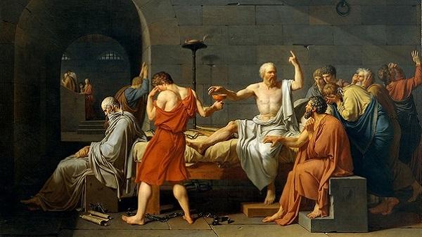Sur les traces de Socrate à Bali en Indonésie... Tableau de Jacques Louis David