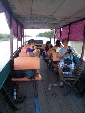 Tonlé Sap le lac du Mékong classé par l'UNESCO. A bord