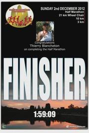 Angkor Wat : semi marathon en terre d'aventure. Finisher Thierry