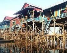 Tonlé Sap le lac du Mékong classé par l'UNESCO