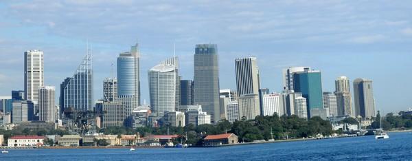 Sydney, Océanie, la terre promise de l'Océan indien. Vue panoramique