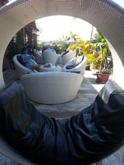 Le Cambodge : découverte de Siem Reap. Terrasse de l'hôtel