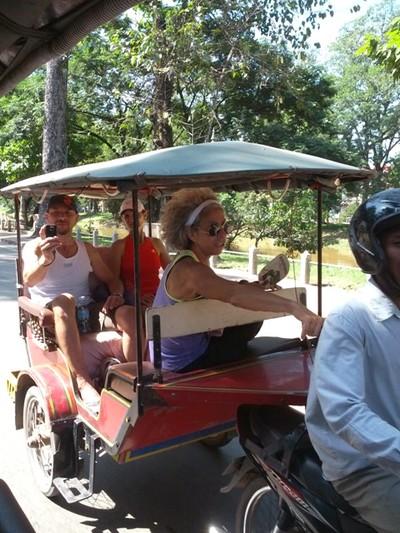 Le Cambodge : découverte de Siem Reap. Touk touk