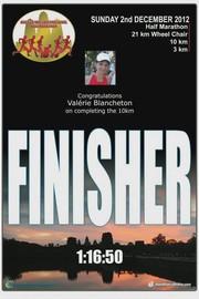 Angkor Wat : semi marathon en terre d'aventure. Valerie finisher