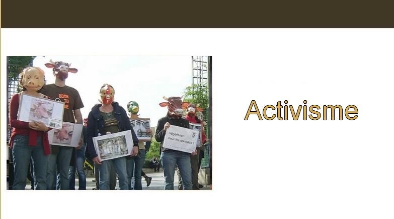 Végétarisme. Activisme