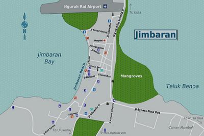 Bali plage : la péninsule, Jimbaran, Bukit, Nusa Dua. Jimbaran baie
