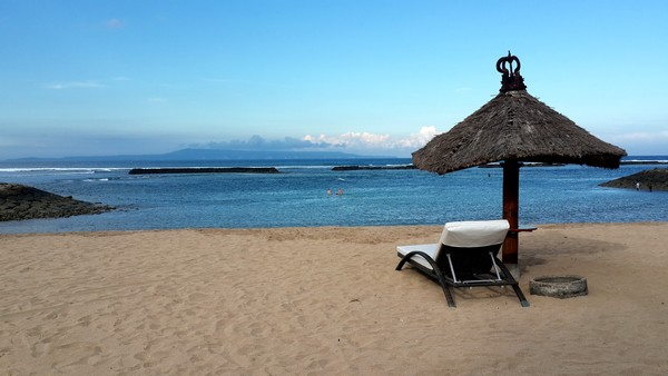 plage pour nager bali