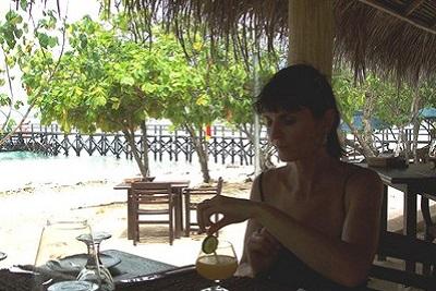 Bali plage : le nord, Menjangan, Jungle Beach, Lovina. Valérie à Waka Shorea