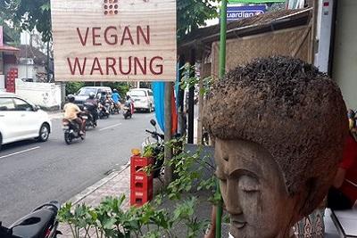 Bons plans à Bali : le warung, brasserie façon asiatique. Vegan warung nine