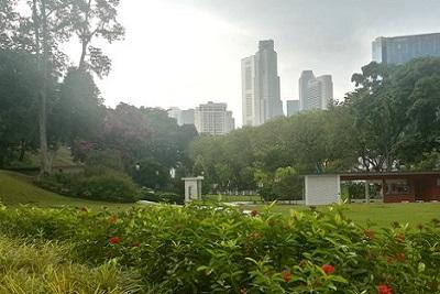 Singapour : Clarke Quay, Fort Canning, . Parc de Fort Canning
