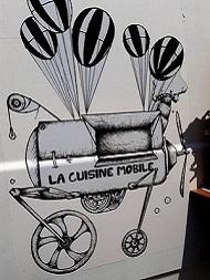 Alex et son Food Truck végétarien Logo cuisine mobile