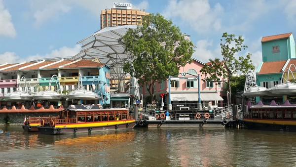 Singapour : Clarke Quay, Fort Canning, Chinatown. Riverside
