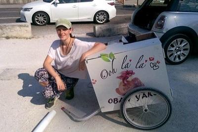 Un Food Bike provençal et vegan nommé Obanyaki. Laetitia