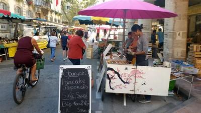 Un Food Bike provençal et vegan nommé Obanyaki. Sur les marchés