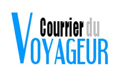 Courrier du voyageur : le bon plan pour voyager tranquille. Logo