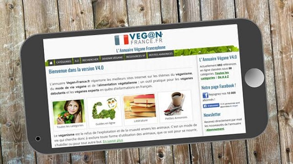 Veganv France fr l'annuaire incontournable du web végétarien
