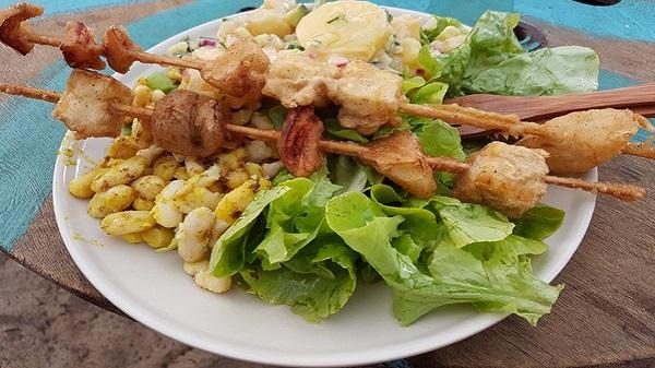 Vegan Surf Camp holidays dans les Landes : le bon plan. Brochettes