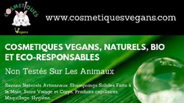 """Angélique, entrepreneuse heureuse de """"Cosmétiques Végans"""". Carte de visite"""