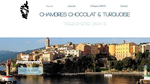 En Corse, Chocolat & Turquoise, Maison d'Hôtes vegan à côté de Bastia