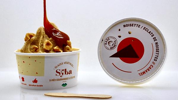 Sÿba la glace végétale néo-gourmande made in Avignon noisette caramel
